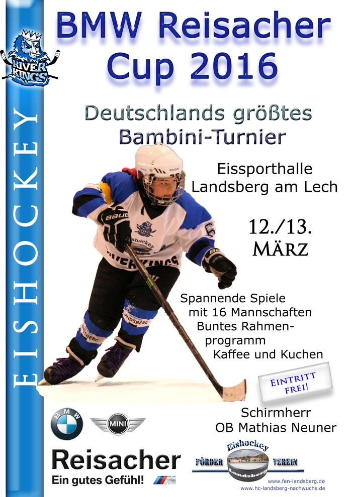 eishockey f rderverein landsberg bmw reisacher cup 2016 plakat. Black Bedroom Furniture Sets. Home Design Ideas